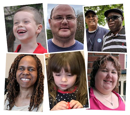 Photos of the six individuals whose stories shown on this page.